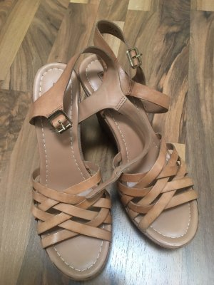 5th Avenue Wedge Sandals camel