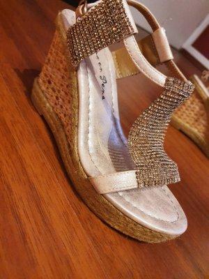 Alma en Pena Hoge hakken sandalen goud