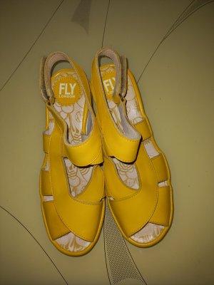 Fly london Platform High-Heeled Sandal yellow