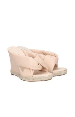 Chloé Sandalo con plateau rosa pallido Pelle