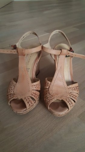 5th Avenue Wedge Sandals light brown