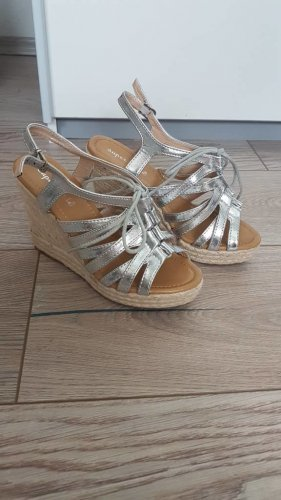 Platform High-Heeled Sandal light grey-natural white