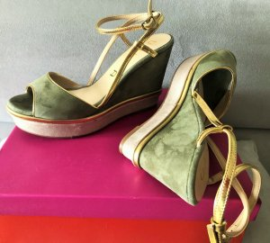 Unisa Wedge Sandals multicolored leather