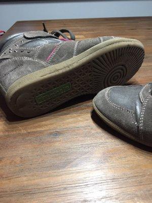 Tamaris Wedge Sneaker dark grey-neon pink