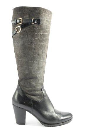 KEIRA Botas de tacón alto negro-gris claro look casual