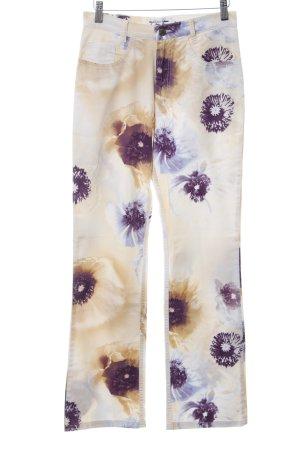 Kejzar's Cotton Line Five-Pocket-Hose Blumenmuster Casual-Look