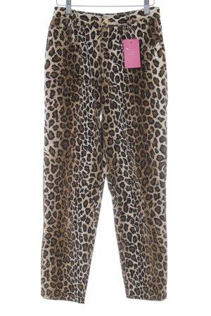 Kejzar's Cotton Line Pantalon taille haute motif animal style décontracté