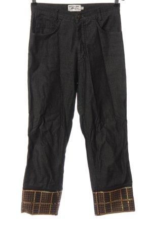 Kejzar's Cotton Line Jeans taille haute gris clair-doré moucheté