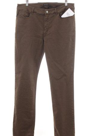 Kejzar's Cotton Line Jeans coupe-droite brun style décontracté