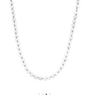 Cadena de plata gris claro-color plata