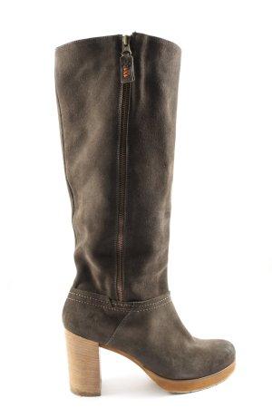 kelibe Wysokie buty na obcasie brązowy W stylu casual