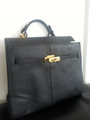 no name Carry Bag black leather