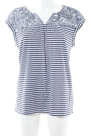 Ken ärmellose Bluse blau-weiß Streifenmuster Casual-Look