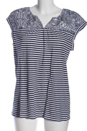 Ken Schlupf-Bluse blau-weiß Streifenmuster Casual-Look