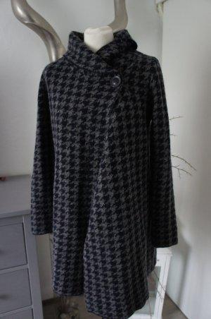 Cardigan in maglia nero-antracite