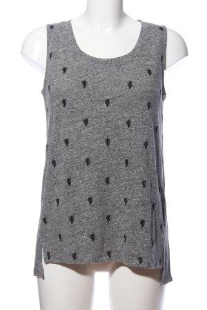 Kenar Camiseta sin mangas gris claro-negro moteado look casual