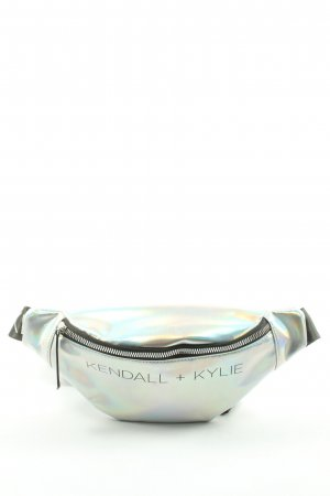 Kendall + Kylie Bumbag silver-colored printed lettering casual look