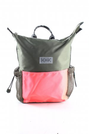 Kendall + Kylie Schoolrugzak khaki-roze casual uitstraling