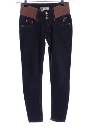 Skinny Jeans schwarz-braun Casual-Look