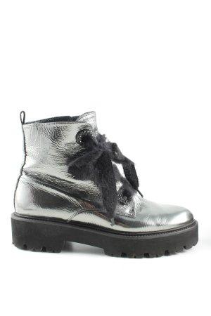 Kennel + schmenger Ankle Boots silberfarben-schwarz Casual-Look