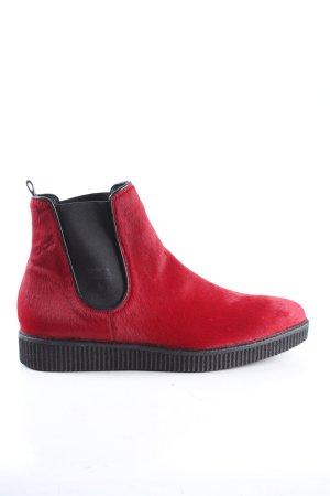 Kennel + schmenger Botines rojo-negro look casual