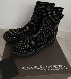 Kennel & Schmenger Bottine d'hiver noir-argenté cuir