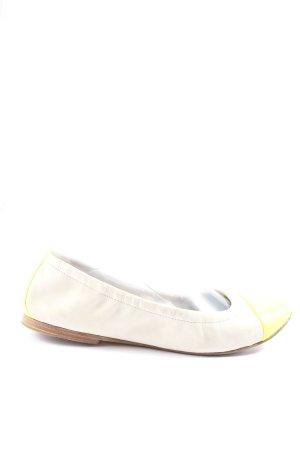 Kennel & Schmenger Bailarinas plegables blanco-amarillo pálido look casual