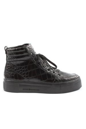 Kennel & Schmenger Sneaker alta nero stampa integrale stile casual