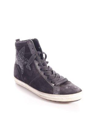 Kennel + schmenger High Top Sneaker schwarz Glitzersteinverzierung