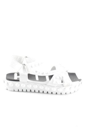 Kennel + schmenger Komfort-Sandalen weiß extravaganter Stil