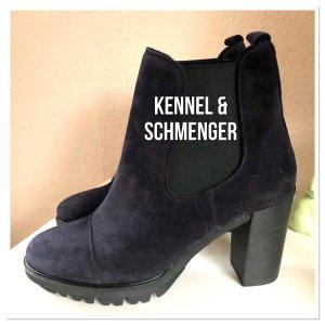 Kennel & Schmenger Platform Booties dark blue