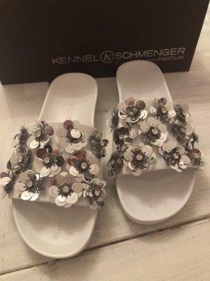 Kennel + schmenger Sandały plażowe biały-srebrny Skóra