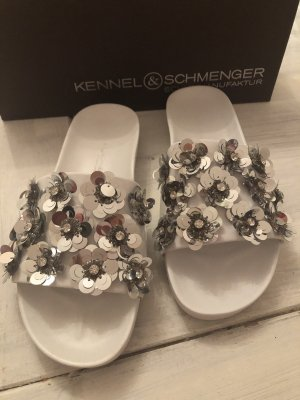 Kennel + schmenger Beach Sandals white-silver-colored leather