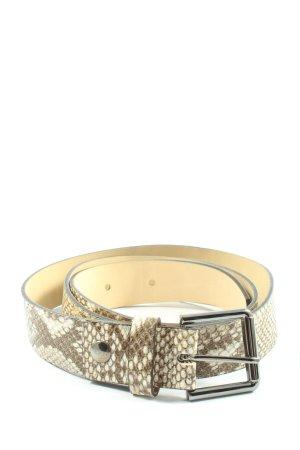Kennel & Schmenger Cinturón de cuero marrón-blanco puro estampado de animales