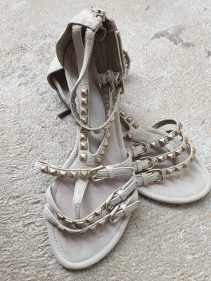 Kennel & Schmenger Toe-Post sandals gold-colored-oatmeal