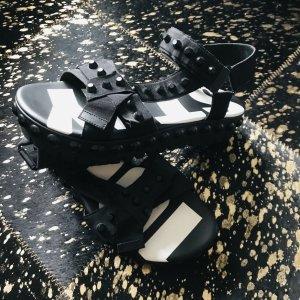 Kennel & Schmenger Sandales à plateforme noir-blanc