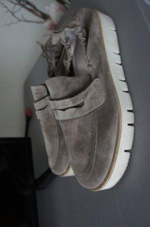 KENNEL & SCHMENGER Schuhe Größe 39 6 Slipper Pumps Ballerinas grau wildleder