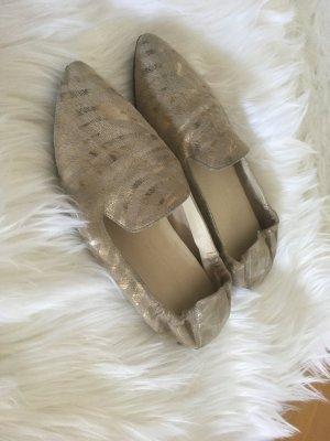 Kennel & Schmenger Slippers Ballerinas 37 beige gold spitz
