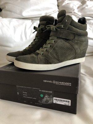 Kennel & Schmenger Heel Sneakers dark green
