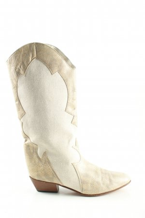 Kennel & Schmenger Boots western crème-blanc cassé motif animal