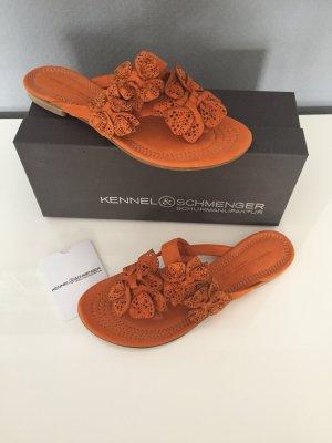 Kennel und Schmenger Sandalias con talón descubierto naranja-naranja oscuro