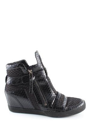 Kennel und Schmenger Booties black animal pattern casual look
