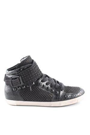 Kennel und Schmenger High Top Sneaker schwarz Animalmuster Casual-Look
