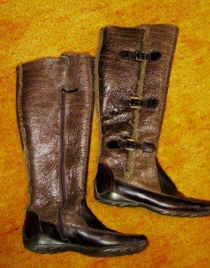 Kennel & Schmenger Futrzane buty brązowy Skóra