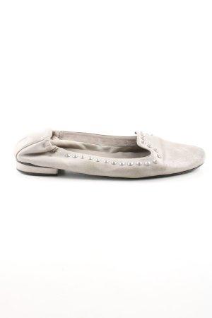 Kennel und Schmenger Ballerina di pelle verniciata grigio chiaro stile casual