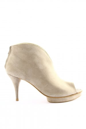Kennel & Schmenger Peep Toe Booties natural white casual look