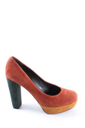 Kennel und Schmenger High Heels rot-hellorange Casual-Look
