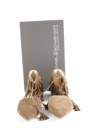 Kennel und Schmenger Romeinse sandalen cognac Aangehechte franjes