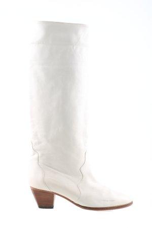 Kennel und Schmenger Stivale militare bianco stile classico