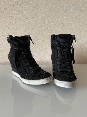 K+S Sneaker con tacco nero